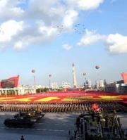 2015朝鲜劳动党建党70周年阅兵